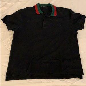 Men's Gucci Polo Shirt - Black XL